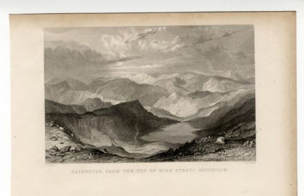 1835 Antique Print HAYSWATER TARN High Street Mountain LAKE DISTRICT Cumbria